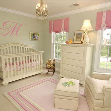 Pink and Green Nursery