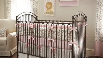 Pink and Taupe Leopard Crib Bedding Collection by Carousel Designs