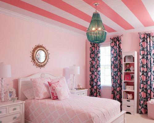 Pink bedroom houzz for Houzz kids room