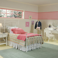 Contemporary Kids Pink Stripe Teen Room