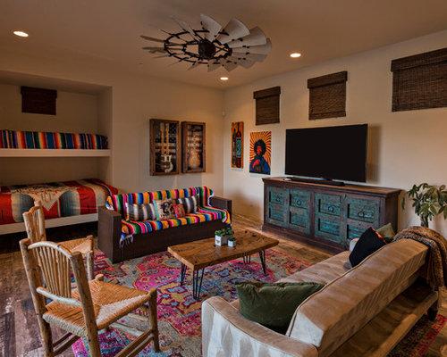 Inspiration For A Large Southwestern Gender Neutral Brown Floor And Dark  Wood Floor Kidsu0027