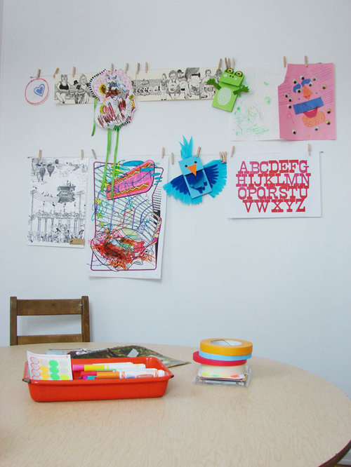 Example of an eclectic kids' room design in Other