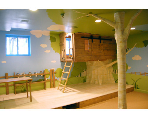 example of a trendy kids room design in other - Kids Treehouse Inside