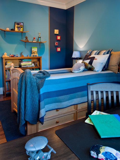 Best denim bedding design ideas remodel pictures houzz for Denim bedroom ideas