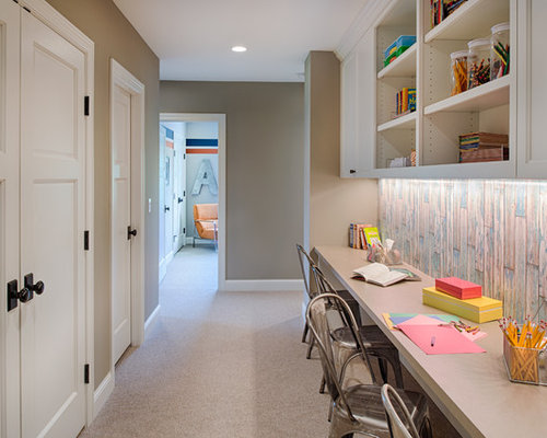Hallway Desk Home Design Ideas, Pictures, Remodel and Decor