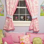 Posh Playhouse Window Bench Drapery And Pillows