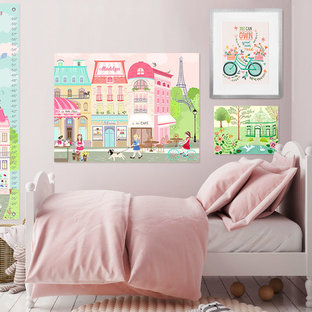 Pretty In Pink Girls Paris Bedroom