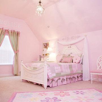 Pretty in Pink Little Girls Bedroom
