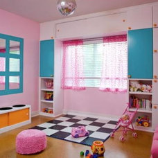 Contemporary Kids Pretty in Pink Playroom