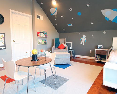 Boys Space Room outer space boys room | houzz