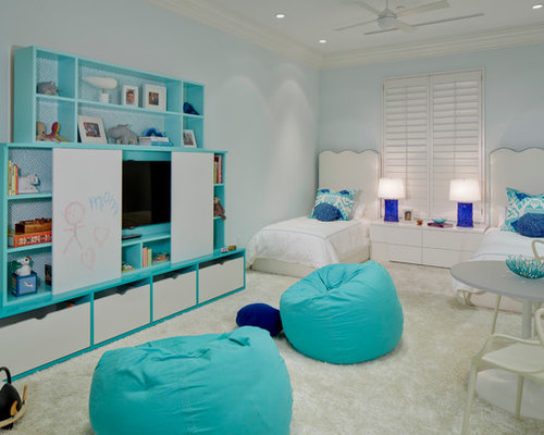 Kids room with two beds houzz for Houzz kids room