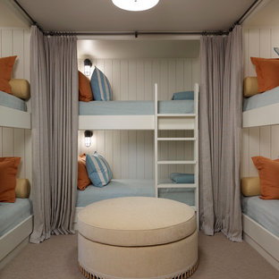 Example of a transitional gender-neutral carpeted kids' room design in Chicago