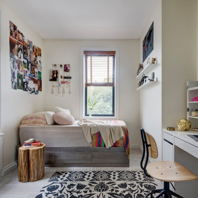 Inspiration for a contemporary light wood floor kids' room remodel in New York
