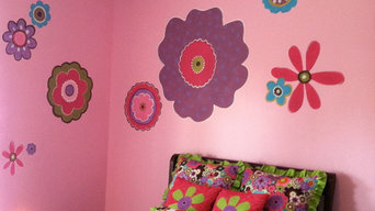 Purple Flower Power Bedroom
