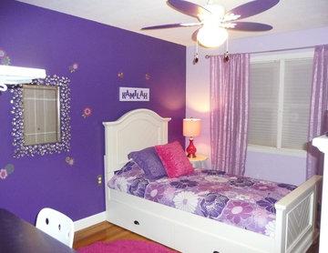 Purple Girls Bedroom 1