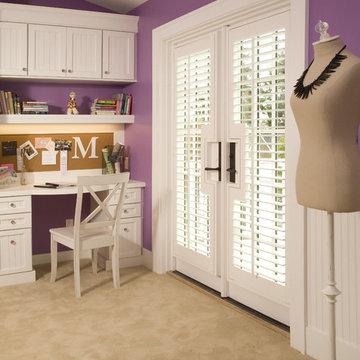 Purple Teen Girl's Bedroom