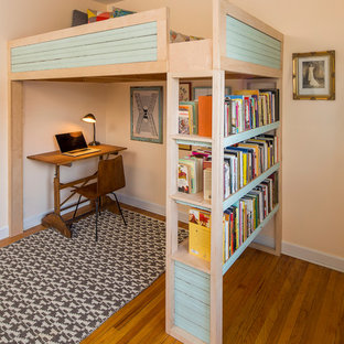 Reclaimed beadboard and plywood bunk bed