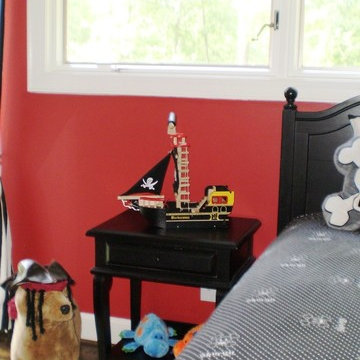 Red and Black Pirate's Cove Bedroom