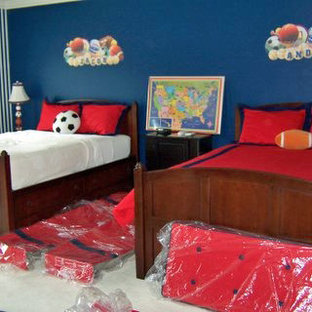 Inspiration For A Mid Sized Timeless Boy Carpeted Kids Room Remodel In Chicago With
