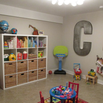Refinished Basement - Cozy and Contemporary Entertainment Space & Playroom