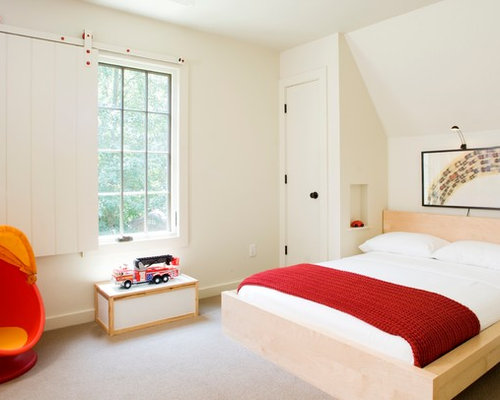 Inspiration For A Small Transitional Gender Neutral Carpeted Kids Bedroom Remodel In Other With