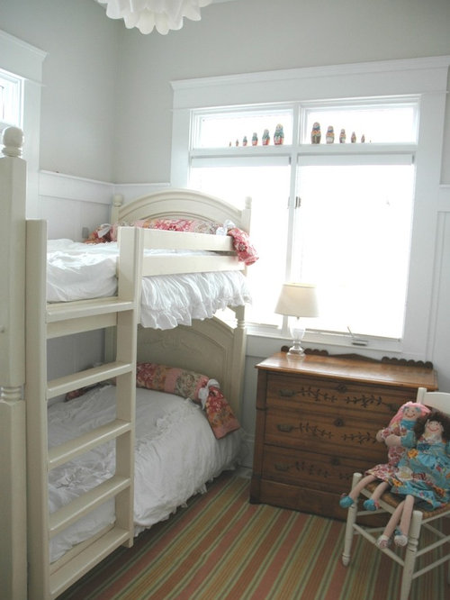 Cottage chic girl kids' room photo in Other