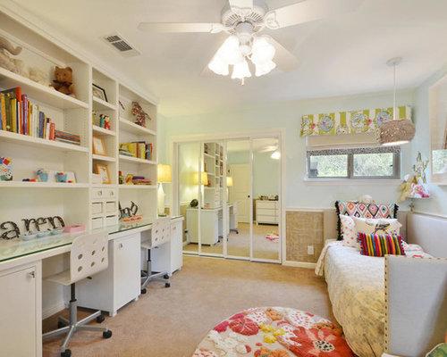 example of a trendy kidsu0027 room design in austin