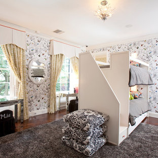 Example of a trendy girl kids' room design in Houston