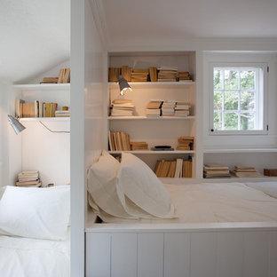 Modelo de dormitorio infantil campestre con paredes blancas