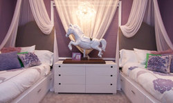 Robeson Design Girls Bedroom Decorating Ideas and Storage Solutions