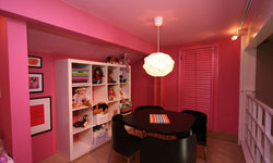 Robeson Design Pink Toy Room with IKEA Storage