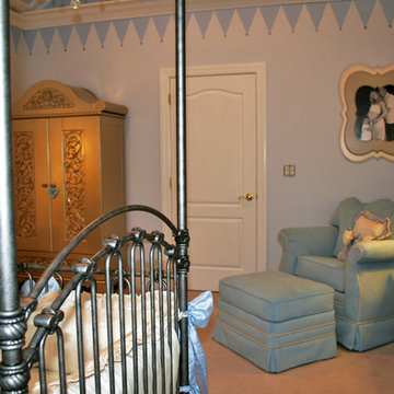 Royal Prince Nursery in Baby Blue and Silver