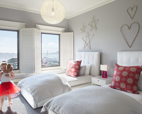 Grande chambre de fille moderne : Photos et idées déco de chambres ...