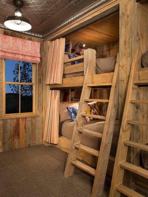 Cabin bunk room home design ideas pictures remodel and decor for Rustic kids room