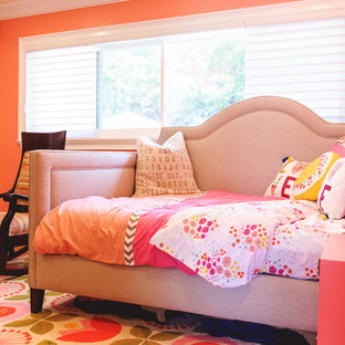 Inspiration for an eclectic kids' study room for girls in San Diego.