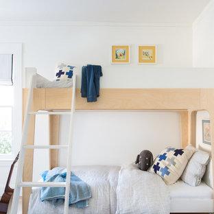 Kids Bedroom Small Contemporary Boy Light Wood Floor And Beige