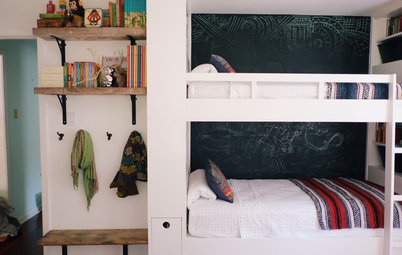 Fabulous Room of the Day Room of the Day Siblings u Bedroom With Built Ins and Play Space