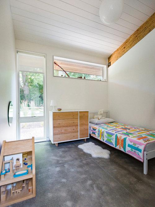 Wei e kinderzimmer mit betonboden ideen design houzz for Weisses kinderzimmer