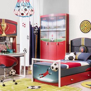 Small minimalist gender-neutral kids' room photo in Miami