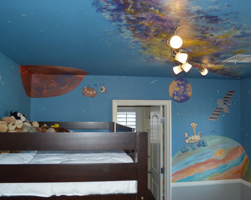 Children\'s Room - Solar System Mural