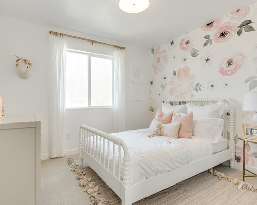 Salt lake city kids 39 room design ideas remodels photos for Cream and pink bedroom ideas