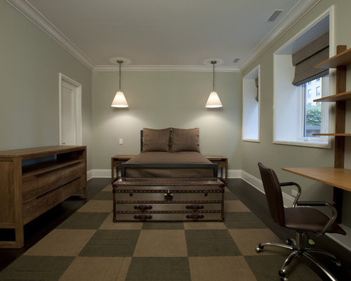 Inspiration For A Contemporary Gender Neutral Dark Wood Floor Kids Room Remodel In Chicago