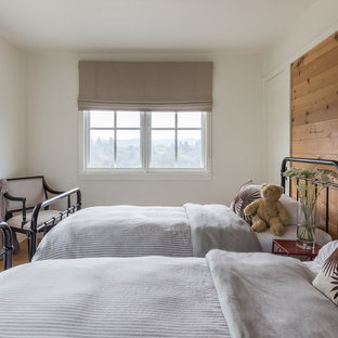 Country Kids Bedroom Photo In San Francisco With White Walls