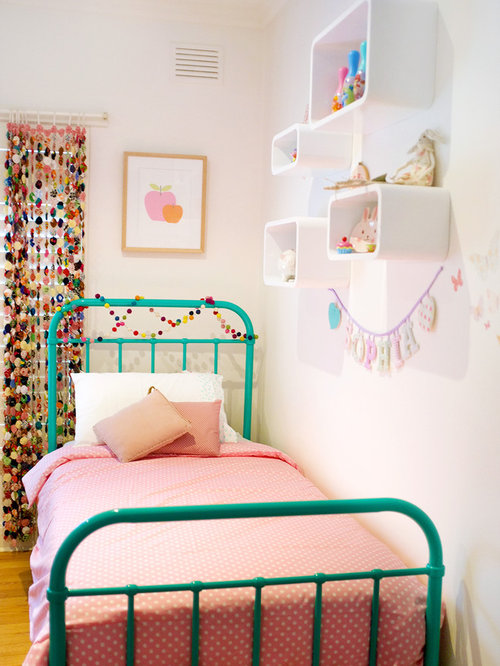 Example Of A Mid Sized Trendy Girl Medium Tone Wood Floor Kidsu0027 Room Design Part 71