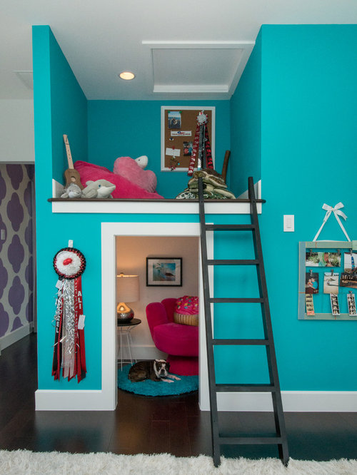 Cool teen hangout rooms houzz for Cool rooms to have in your house
