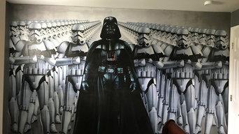 Star wars wall paper mural