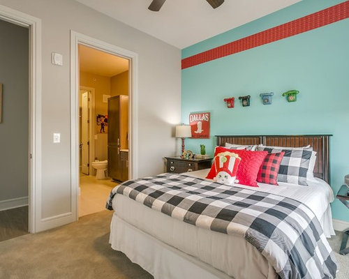 Transitional Carpeted And Gray Floor Kidsu0027 Room Idea In Dallas With Blue  Walls Part 38