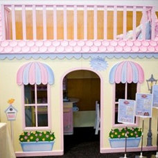 Traditional Kids StoryBook Cottage Playhouse Loft Bed in 'Boutique' theme - By KidSpace Playrooms