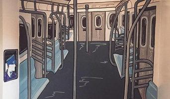 Subway Mural: Boys Room in Brooklyn