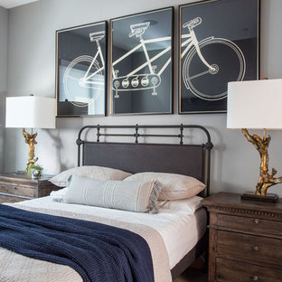 Kids' room - mid-sized traditional boy kids' room idea in Salt Lake City with gray walls